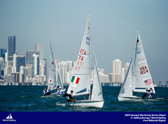 Vela, primo giorno di regate a Miami per le World Cup Series 2019